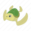 animal, cartoon, ocean, reptile, sea, turtle, underwater icon
