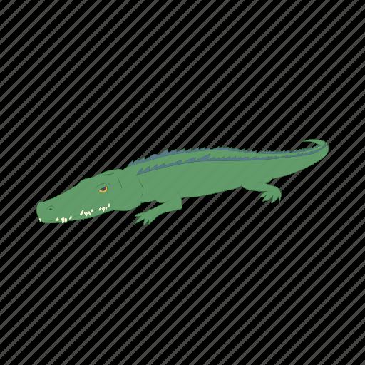 alligator, animal, cartoon, crocodile, mascot, predator, reptile icon
