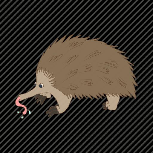 animal, anteater, cartoon, nature, tongue, wild, zoo icon
