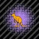 animal, australia, comics, kangaroo, mammal, marsupial, wildlife