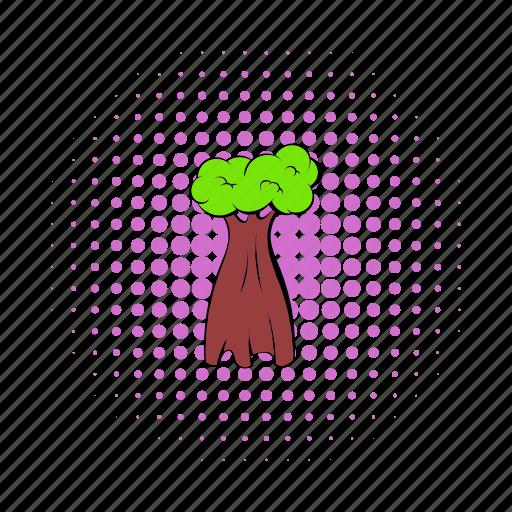 africa, baobab, comics, natural, nature, plant, tree icon