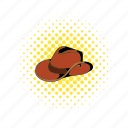 australia, australian, brown, comics, cowboy, felt, hat icon