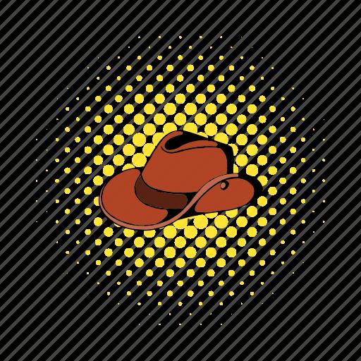 australia, australian, brown, comics, cowboy, felt, hat icon