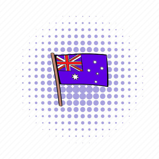 australia, australian, comics, flag, nation, national, wind icon