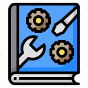 authentic, business, device, instruction, looking, people, technology icon