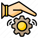authentic, business, device, looking, people, solve, technology icon