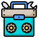 authentic, business, device, looking, people, technology, toolbox icon