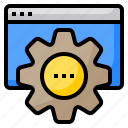 authentic, business, looking, people, support, technology, website icon