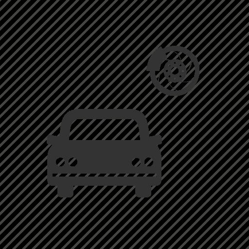 auto, brakes, car, garage, motor, repair, service icon