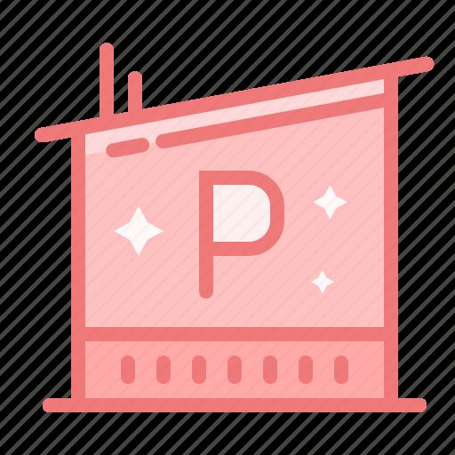 automotive, car, garage, parking, place, space icon