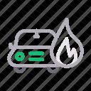 burn, care, damage, fire, insurance icon