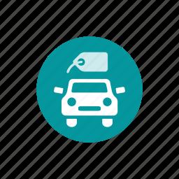 auto, car, car dealer, dealer, service, tag icon