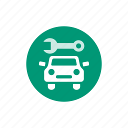 auto, car, car repair, garage, repair, service, wrench icon