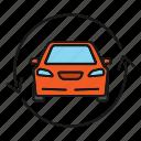 arrow, auto, automobile, car, exchange, update, vehicle icon