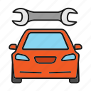 auto, automobile, car, repair, spanner, vehicle, wrench icon