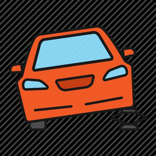 auto, automobile, car, car jack, jack, lift, wheel icon