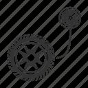 automobile, car, gauge, pressure, tire, tyre, vehicle icon