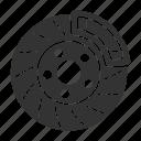 auto, automobile, brake, broken, car, disc, vehicle icon