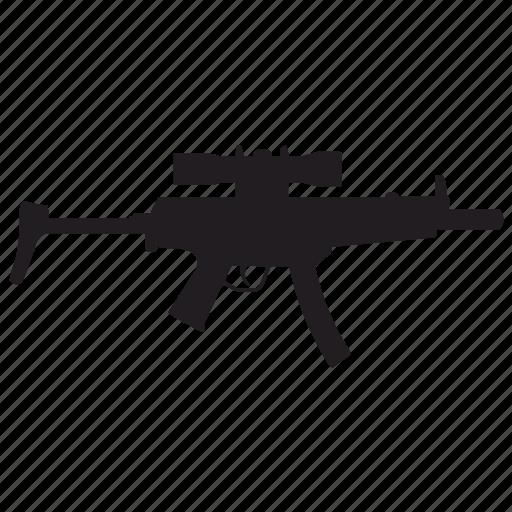 automatic, enemy, gun, shooting, swat, weapon icon