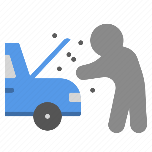 accident, broken, car, fix, insurance, safe icon