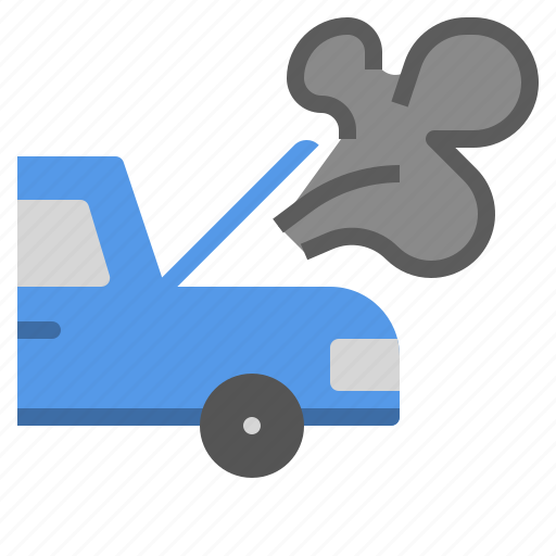 accident, car, claim, heat, overheat, problem icon