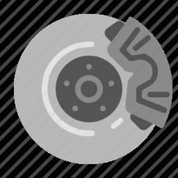 automotive, brake, car, engine, pad, rotor, safety icon