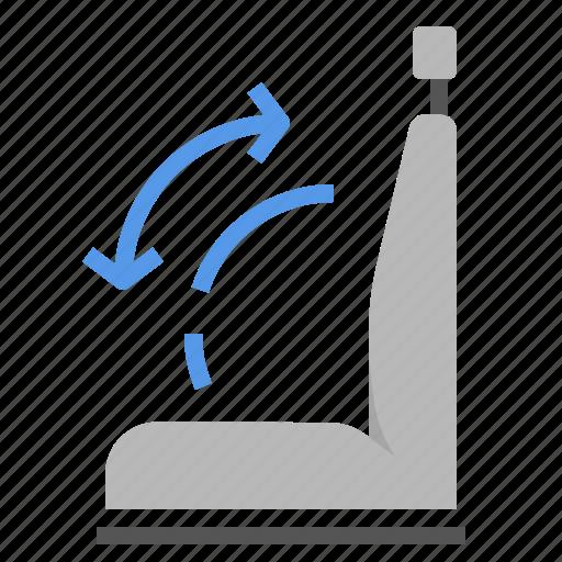 adjustment, car, comftable, seat icon