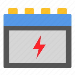 battery, car, electric, electricity, power, service icon