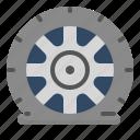 car, fix, accident, tire, pressure icon
