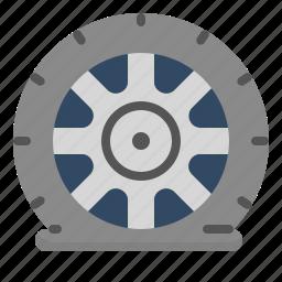 accident, car, fix, pressure, tire icon