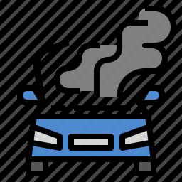 burn, car, heat, hot, overheats icon