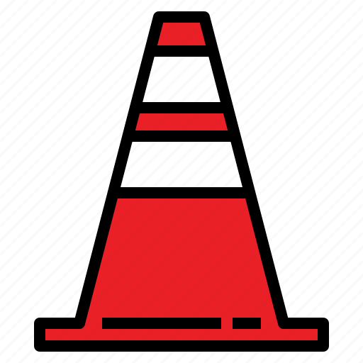 cones, construction, highway, road, safety, traffic icon