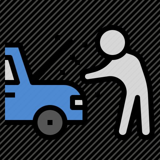 accident, broken, car, fix, insurance, safe icon