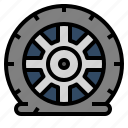 accident, car, fix, pressure, tire icon