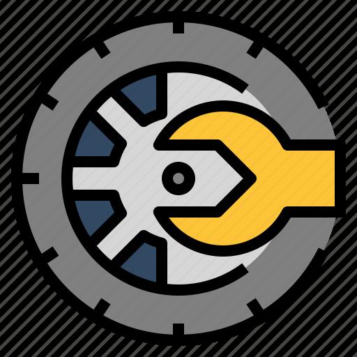 car, maintenance, pressure, service, tire, tyre, wheel icon