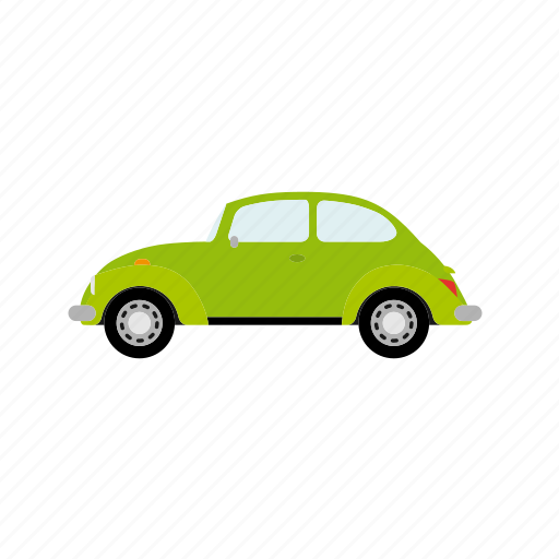 bug, car, limousine, small, vintage icon