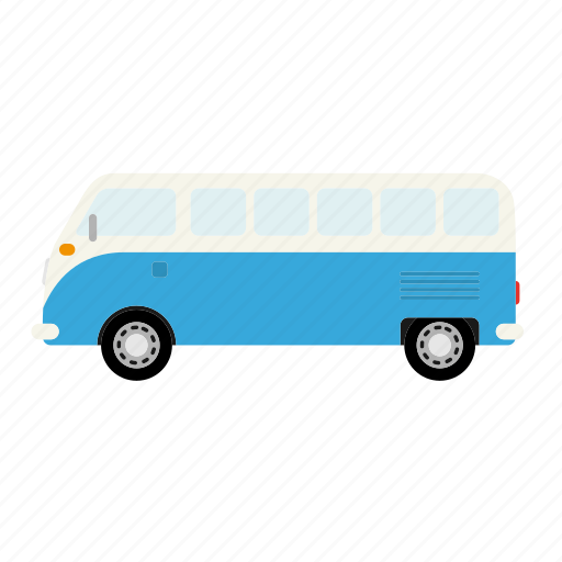 automotive, bus, car, microbus, transportation, van, vintage icon
