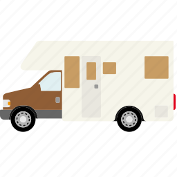 automotive, camper, car, transportation, truck, van, vehicle icon