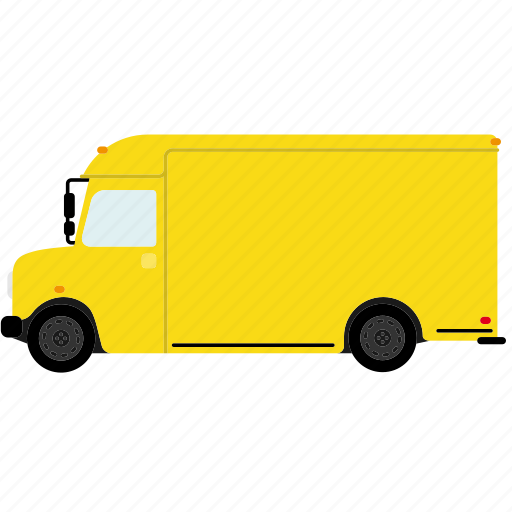 automotive, delivery, mail, transportation, truck, van, vehicle icon