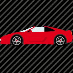 automotive, car, sportscar, transportation, vehicle icon