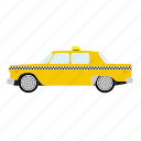 automotive, cab, car, new york, taxi, transportation, yellow icon