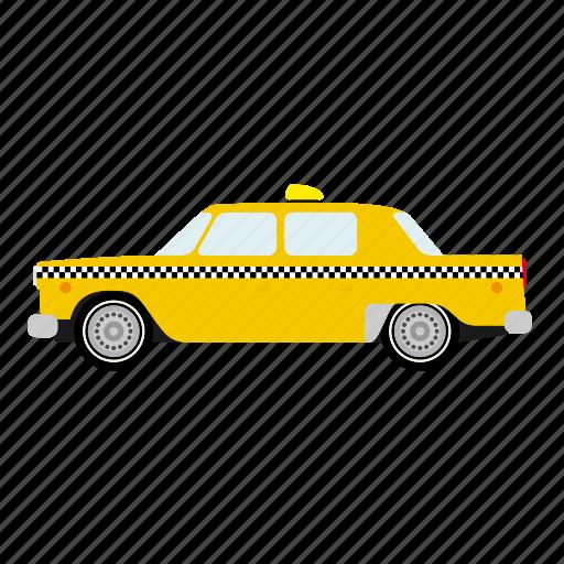 automotive, cab, car, new york, taxi, transportation, yellow icon