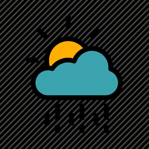 autumn, cloud, colorful, leaf, nature, rain, season icon