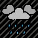 cloud, forecast, rain, rainy, weather