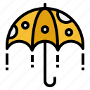 protection, rain, rainy, sunny, umbrella icon