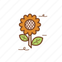 autumn, fall, flower, season, sun flower icon
