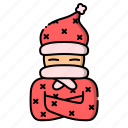 autumn, avatar, fall, pajamas, scarf icon