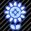 floral, flower, nature, plant, sunflower