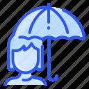 autumn, protection, rain, umbrella, woman
