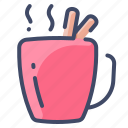 beverage, chocolate, cinnamon, coffee, drink, hot, mug icon